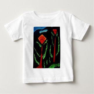 Fleurs abstraites avec des oiseaux tee shirt