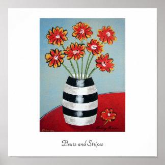 Fleurs and Stripes Print