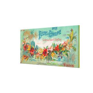 Fleurs D Ethiopie Soap LabelParis, France Canvas Print