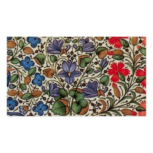 Fleurs de Mille - flores medievales Plantillas De Tarjetas De Visita