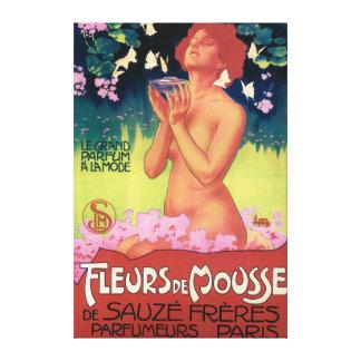 Fleurs de Mousse Perfume Poster Canvas Print