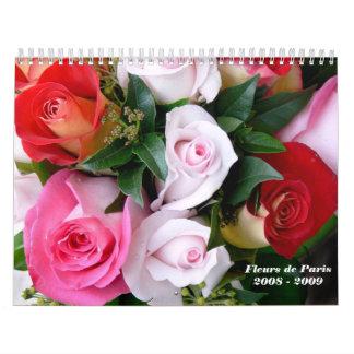 Fleurs de París 2008 - 2009 - modificada para Calendarios De Pared