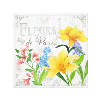 Fleurs de Paris Canvas - Hyacinth Wall Art decor