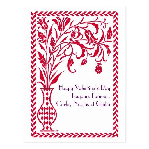 Fleurs de Paris Valentine Postcard
