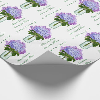 """Fleurs d'hortensia"" Wrapping Paper"