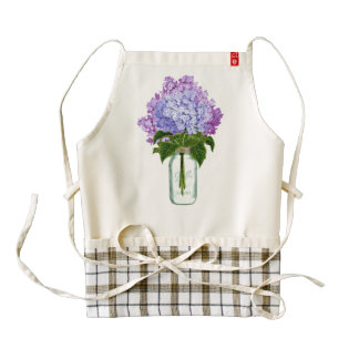 """Fleurs d'hortensia"" Zazzle HEART Apron"