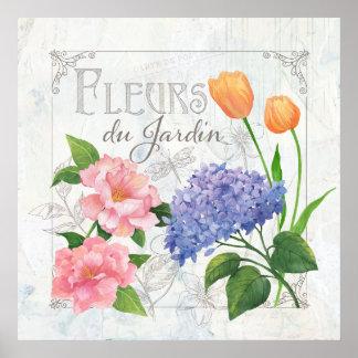 Fleurs du Jardin Poster