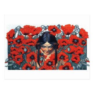 fleurs du mal destruction postcard
