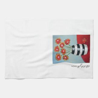 Fleurs & Stripes Dish Towel