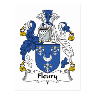 Fleury Family Crest Post Cards