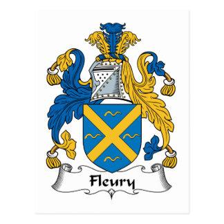 Fleury Family Crest Post Card