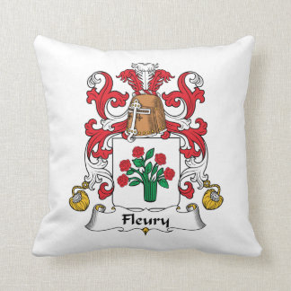 Fleury Family Crest Throw Pillows