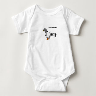 Flew the Coop Gray Pigeon Cartoon Infant Creeper