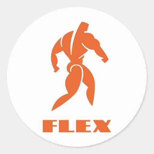 Flex Bodybuilding Classic Round Sticker