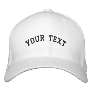 Flex-fit Wool Embroidered White Cap Template Embroidered Baseball Cap