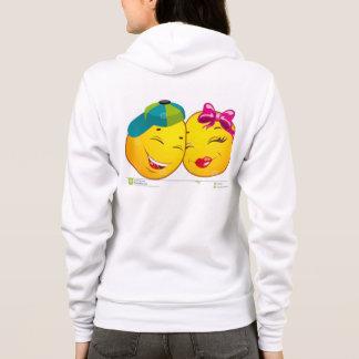 Flex Fleece Zip Hoodie, WHITE , COUPLE KISS Hoodie