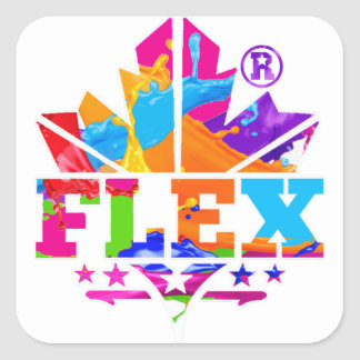FLEX PRODUCTS SQUARE STICKER