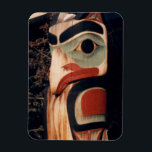 "Flex Refrigerator Totem Pole Alaska Photo Designed Magnet<br><div class=""desc"">The long lost art of totem pole wood carving at its best. Enjoy this unique refrigerator magnet for yourself or give as a gift. Fantastic item for those who have everything,  a great piece of photography for fundraising and comes in additional sizes for your enjoyment.</div>"