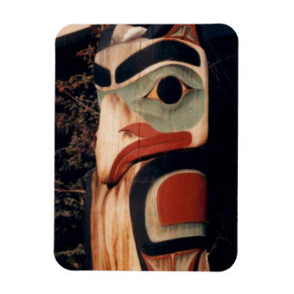 Flex Refrigerator Totem Pole Alaska Photo Designed Magnet