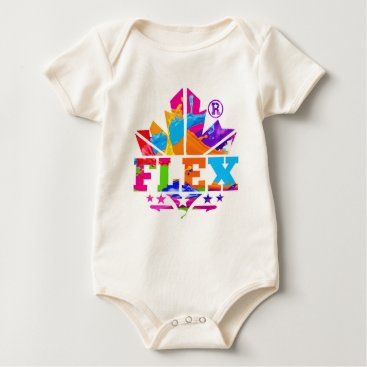 Beach Themed FLEX YELLOW BABY BODYSUIT