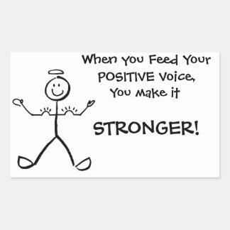 Flex your positive voice MUSCLES! Rectangular Sticker