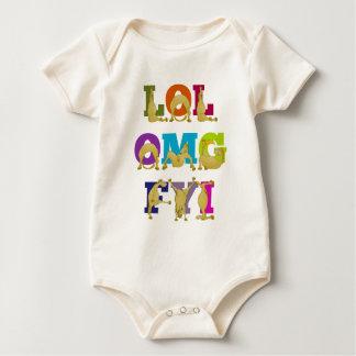 Flexi pony LOL FYI OMG Baby Bodysuit