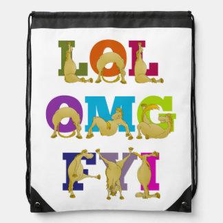 Flexi pony LOL FYI OMG Backpacks