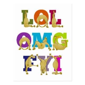 Flexi pony LOL FYI OMG Postcard