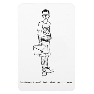 flexi refrigerator magnet w/ hand-drawn caricature