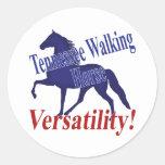Flexibilidad del caballo de Tennessee que camina Pegatina Redonda