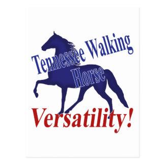 Flexibilidad del caballo de Tennessee que camina Tarjetas Postales