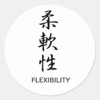 Flexibilidad - Juunansei Etiquetas Redondas
