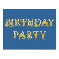Flexible alphabet pony BIRTHDAY PARTY Post Card
