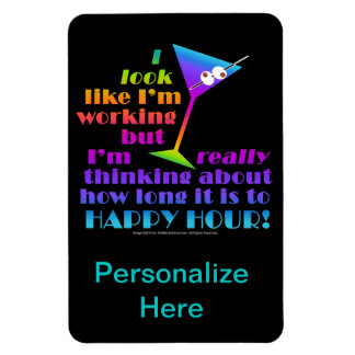 Flexible Cocktail Magnets - How Long to Happy Hour