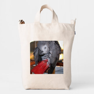 Flexible Congo African Grey Parrot with Red Tail Duck Bag