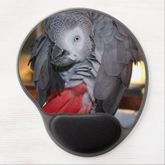 Flexible Congo African Grey Parrot with Red Tail Gel Mouse Pad