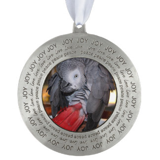 Flexible Congo African Grey Parrot with Red Tail Ornament