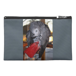 Flexible Congo African Grey Parrot with Red Tail Travel Accessory Bag
