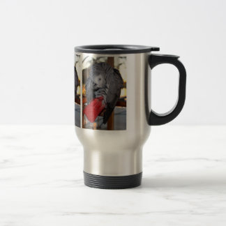 Flexible Congo African Grey Parrot with Red Tail Travel Mug