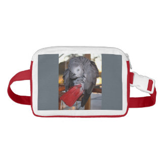 Flexible Congo African Grey Parrot with Red Tail Waist Bag