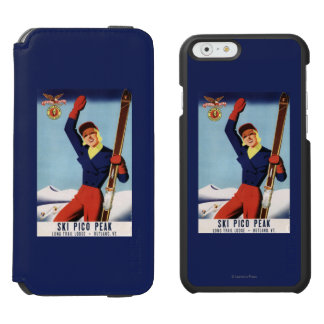 Flexible Flyer Pin-Up Skiing Girl iPhone 6/6s Wallet Case