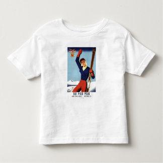 Flexible Flyer Pin-Up Skiing Girl Toddler T-shirt