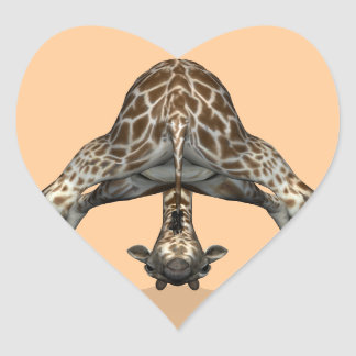 Flexible Giraffe Heart Sticker