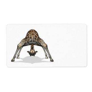 Flexible Giraffe Custom Shipping Labels