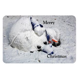 Flexible Magnet   Dying Snowman