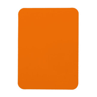 Flexible Magnet with  Bright Orange Background