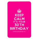 [Crown] keep calm it's your 30th birthday  Flexible magnets