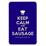 [Chef hat] keep calm and eat sausage  Flexible magnets