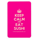 [Crown] keep calm and eat sushi  Flexible magnets