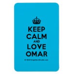 [Crown] keep calm and love omar  Flexible magnets